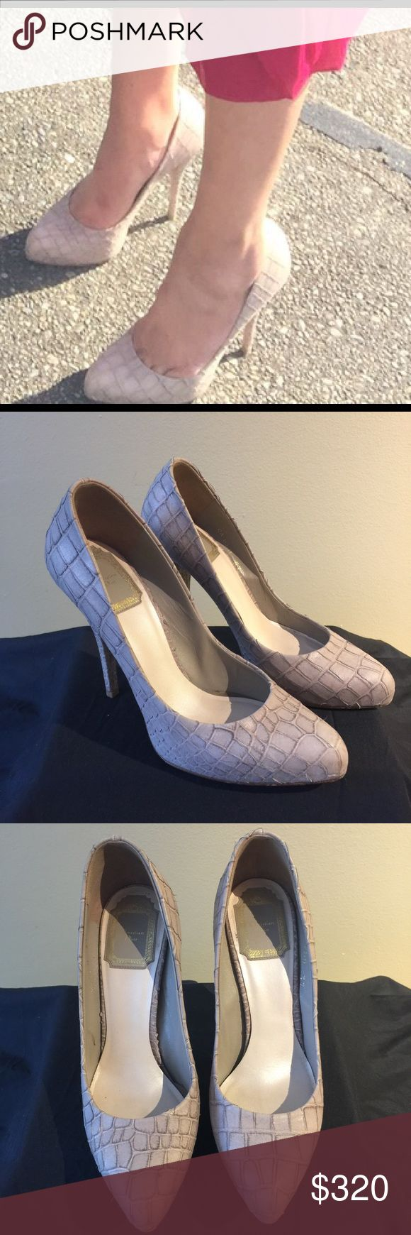 Christian Dior Snakeskin Heels Very sexy Christian Dior Beige Embossed Snakeskin Heels, 4.5 inch heel, Minor Wear, small knick in right heel that can be repaired through Nordstrom, Neiman Marcus or your trusted shoe repair. No dust bag. Christian Dior Shoes Heels