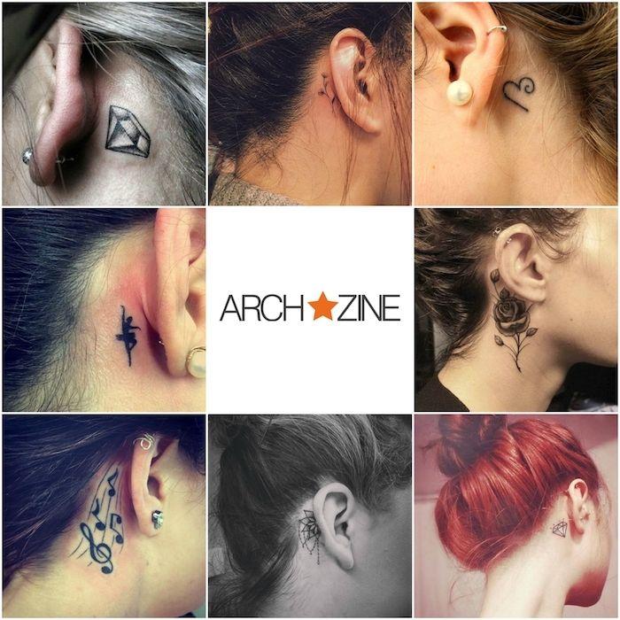 ▷ 1001 + ideen und bilder zum thema tattoo hinterm ohr | tattoo