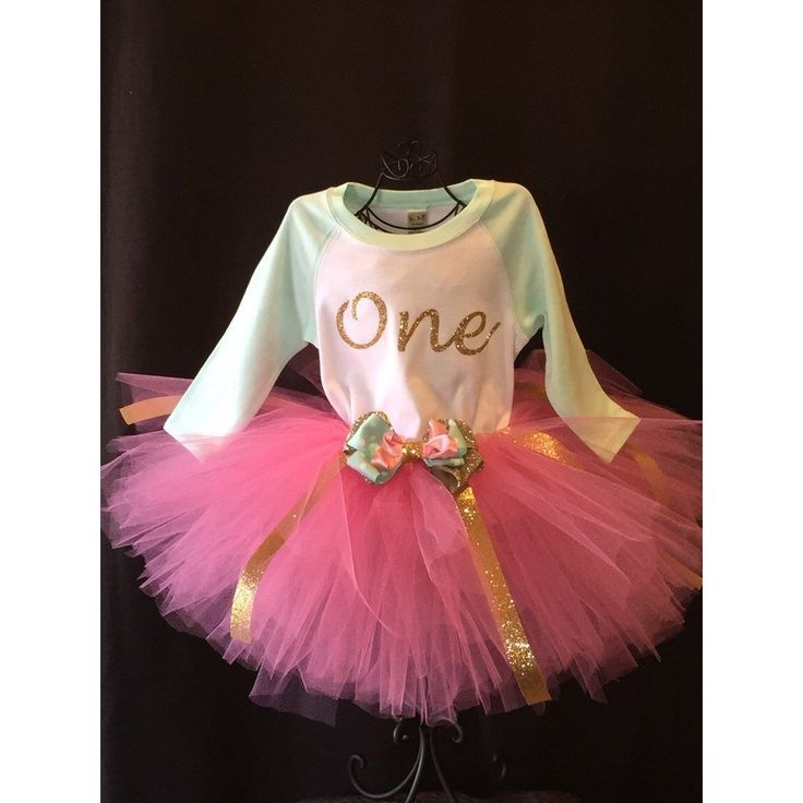 My First Birthday Tutu Outfit 2-piece (pink)