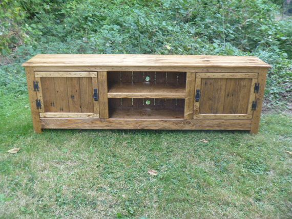 We are now taking deposits to put the order in rotation! Please ask about putting down $50 to start the order process! Final payment due before shipping. This TV stand is 70 L x 22 H X 14 deep.  Custom made in 6-8 weeks!  I have another listing with one at 18 deep.  Inside shelf space is about 11  on this one.  If you need a certain size shelf please ask.  We can also make with chicken wire doors  Custom made in 6 -8 weeks.  We can take a deposit to get started so please ask.  Handmade…