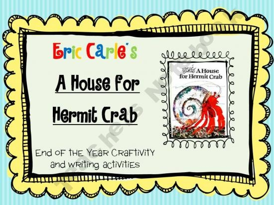 A house for hermit crab writing activity for preschool