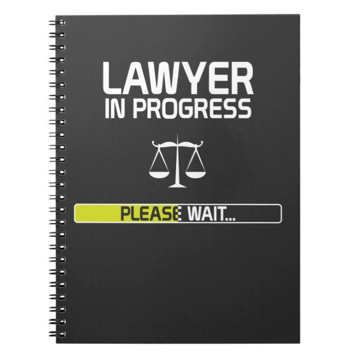 Lawyer In Progress Funny Law School Student Notebook