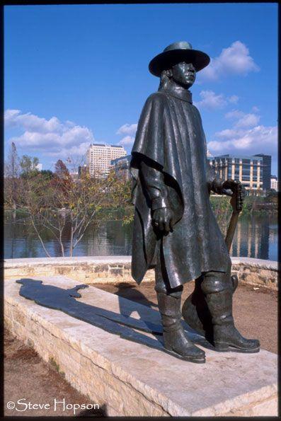 Stevie Ray Vaughn statue -- Town Lake, Austin