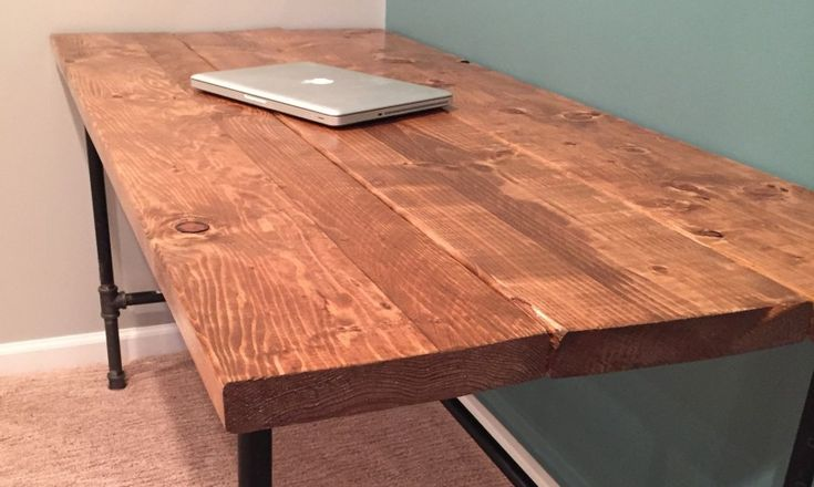 "DIY: How To Build A Rustic, ""Factory Salvage"" Desk"