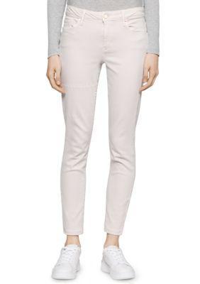 Calvin Klein Jeans Ecru Dust Dyed Ankle Pants
