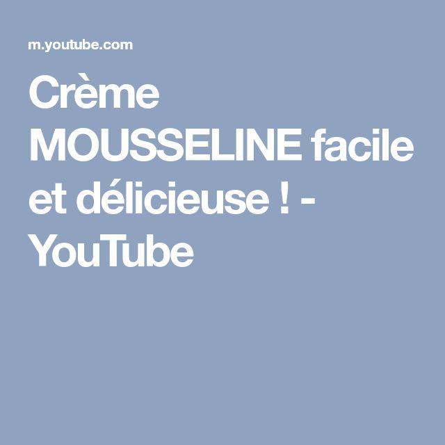 Crème MOUSSELINE facile et délicieuse ! - YouTube