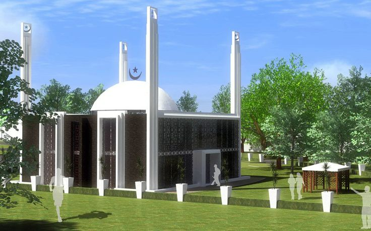 Ahmadiyya Green Mosque in Holland