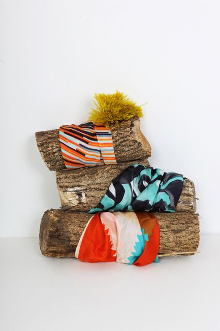 Good way to display scarves: Big Sticks, Empty Fireplaces, Anona Studios, Anona Textiles, Accessories, Design Studios, Anona Design, Anona Prints, Business Ideas