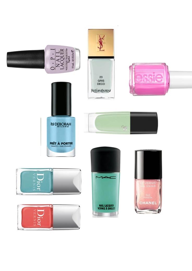 www.elle.be : Rode nagels is een klassieker die altijd werkt en zal blijven werken maar deze zomer dragen we ook pastelkleuren op onze nagels.