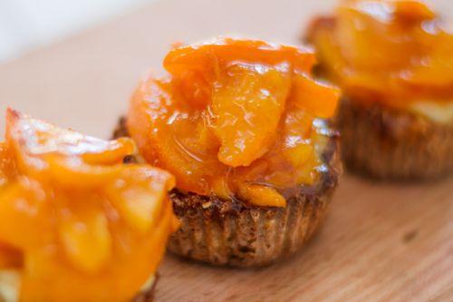 Zdravé Muffiny svločkami, tvarohem a kaki