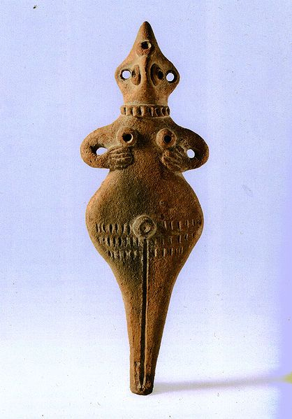 Middle Bronze Age Figurine  Terracotta  Israel National Maritime Museum