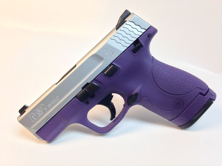 This Smith and Wesson Shield 9mm has been given a stunning new look in Goddess Purple and Stainless Steel!  Available at www.tzarmory.com!