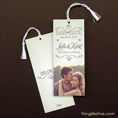 photo save the date bookmark #wedding #weddinginvitations #savethedates