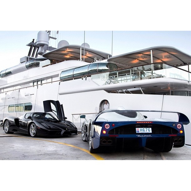 Choose either the Enzo or the Maserati MC12 aboard your superyacht :)