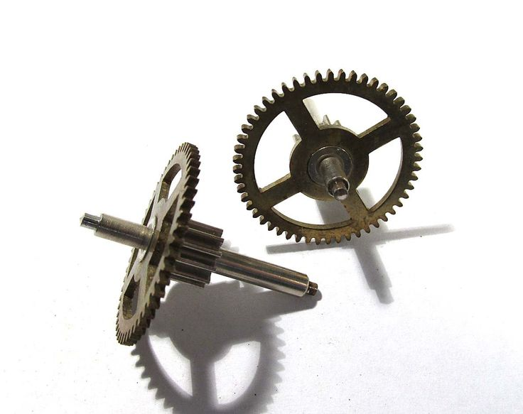 Large Clock Gears VINTAGE Gears STEAMPUNK Two (2) Large Clock Mechanical Movements Robots Art Assemblage Supplies Clock Repair Supply (D25) by punksrus on Etsy