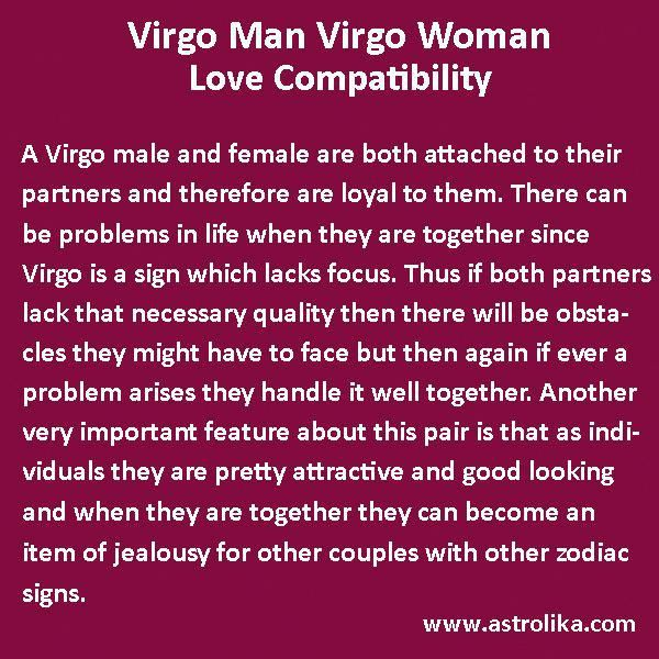 Virgo male with pisces female