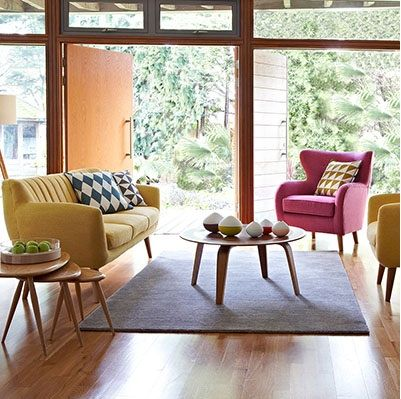 76 best retro images on pinterest homes chaise lounges and colors. Black Bedroom Furniture Sets. Home Design Ideas