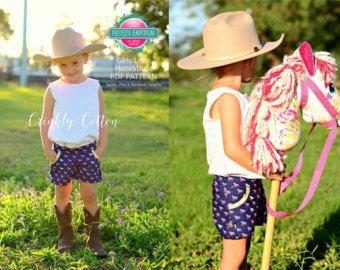 Best shorts ever! Pattern Emporium Girls Shorts sewing pattern (Little Honeybuns).