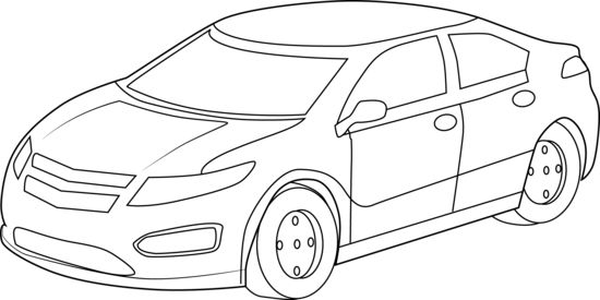 White Car Clipart - Clipart Kid in 2019 | Cars coloring ...