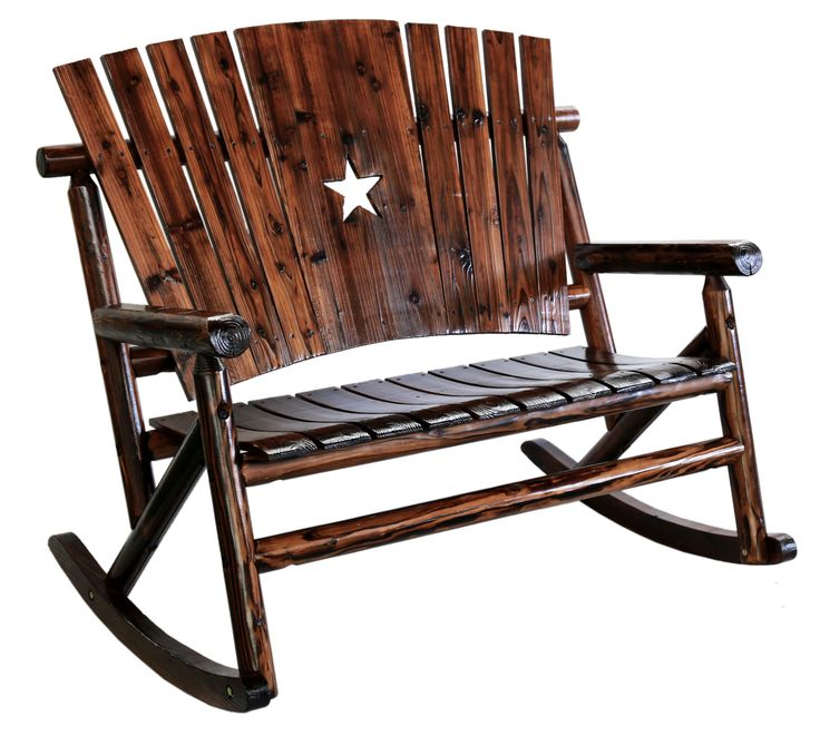 Char-Log Cut Out Star Double Rocking Chair II