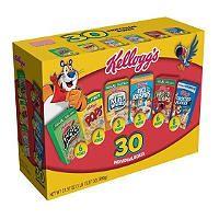 Kelloggs Cereal Jumbo Variety Pack - 31.37 oz. - 30 ct. - Sams Club  $8.98