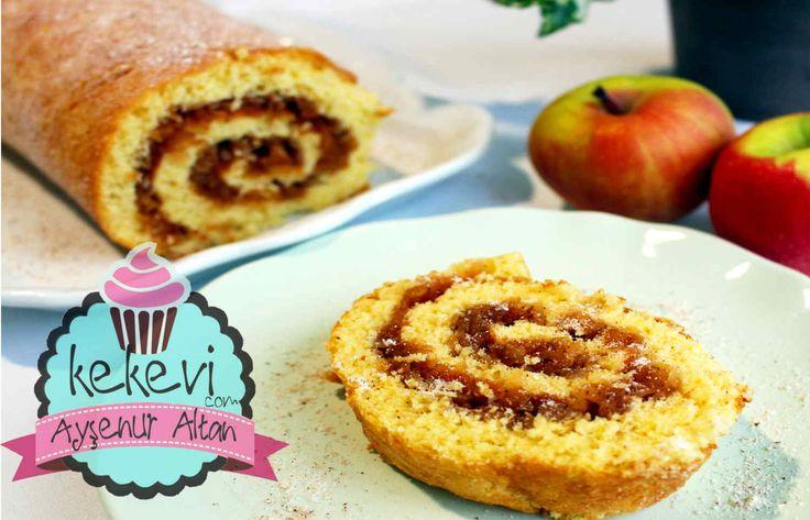 Elmalı Rulo Pasta / Elmalı Kek | Ayşenur Altan Yemek Tarifleri