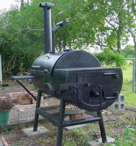 Painted 250 Gallon BBQ SMoker