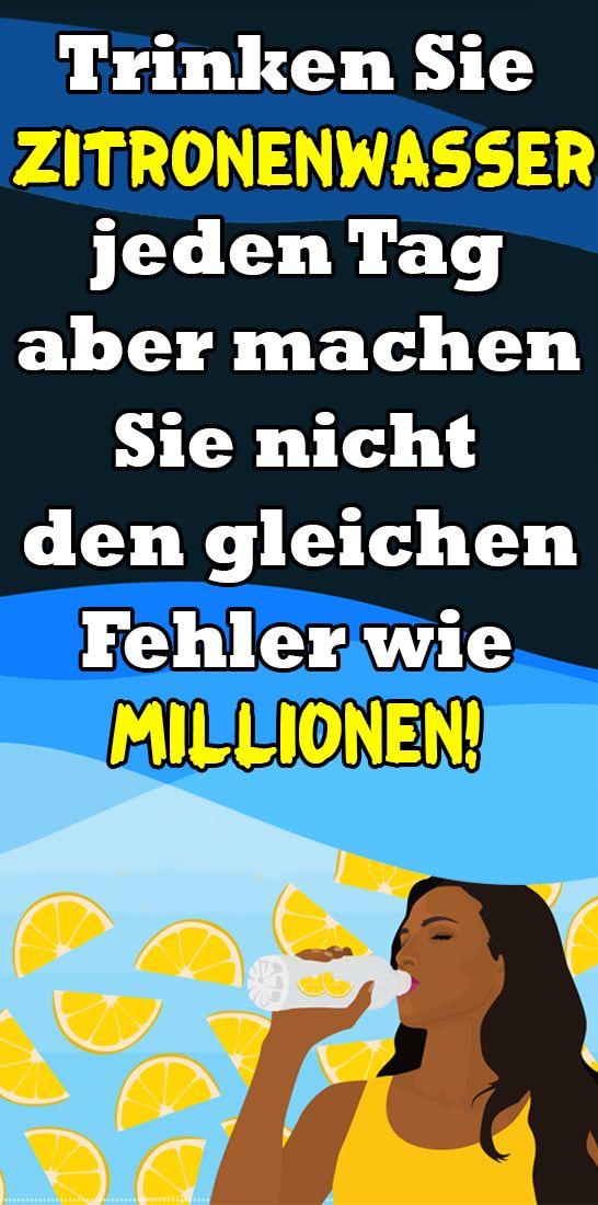 Trinken Sie Zitronenwasser jeden Tag, aber machen Sie nicht den gleichen Fehler wie Millionen!
