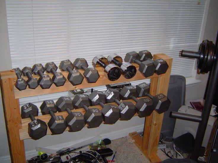 Best dumbell racks images on pinterest exercise rooms