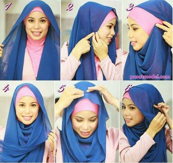 Tutorial Hijab Pashmina Kaos The 25+ best Tutorial ...