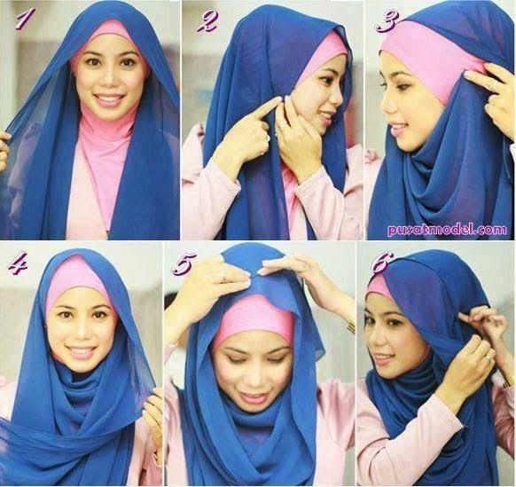 Tutorial Hijab Style, Pashmina Jilbab Modern   Pusat Model
