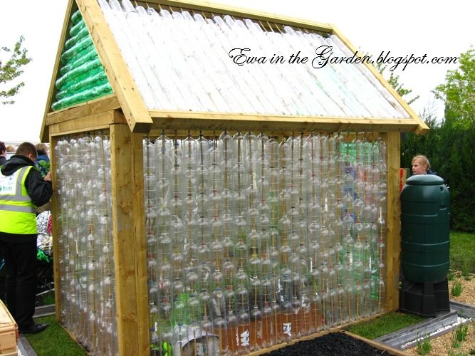 DIY recycled greenhouse