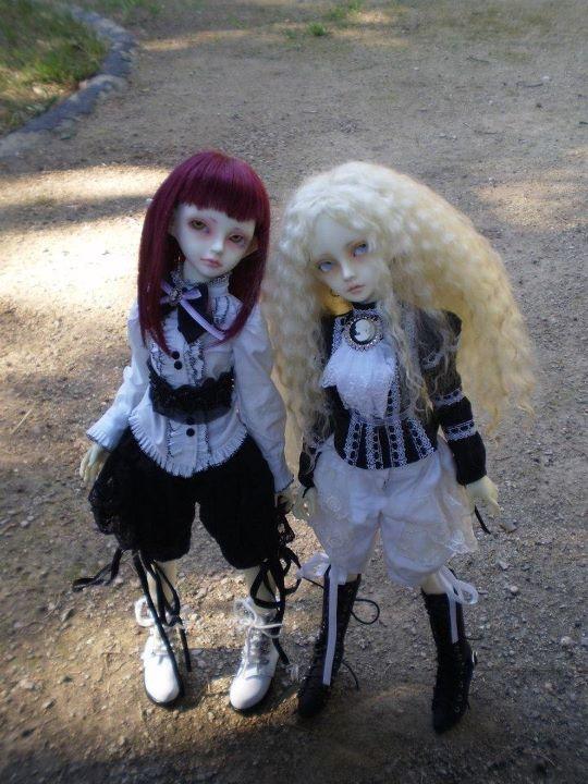 Antica and Nova (Bobobie Sprite/Minifee BL body and Resinsoul Mei/Minifee AL body)