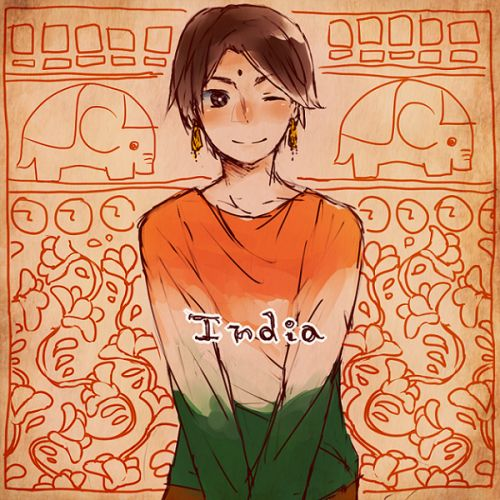 Anime In India: 29 Best APH India Images On Pinterest
