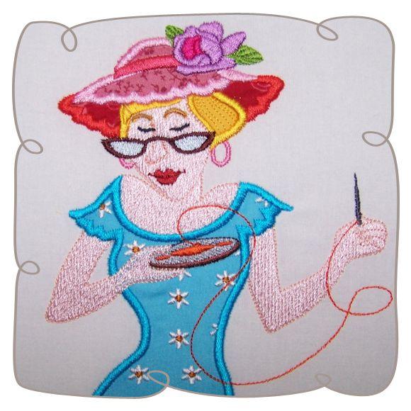 Applique Eizabeth Quilt Lady 4 Machine Embroidery design