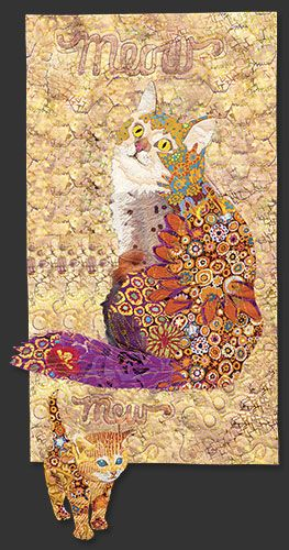 Cat block ,in the Farm Quilt by Bonnie Keller.  BOM at American Quilter's Society.