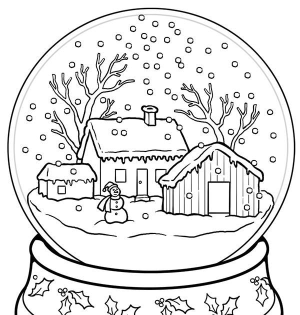 Snow Globe Coloring Page Coloring Pages Coloring Pages Christmas Snow Gl Coloring Pages Winter Free Christmas Coloring Pages Christmas Present Coloring Pages