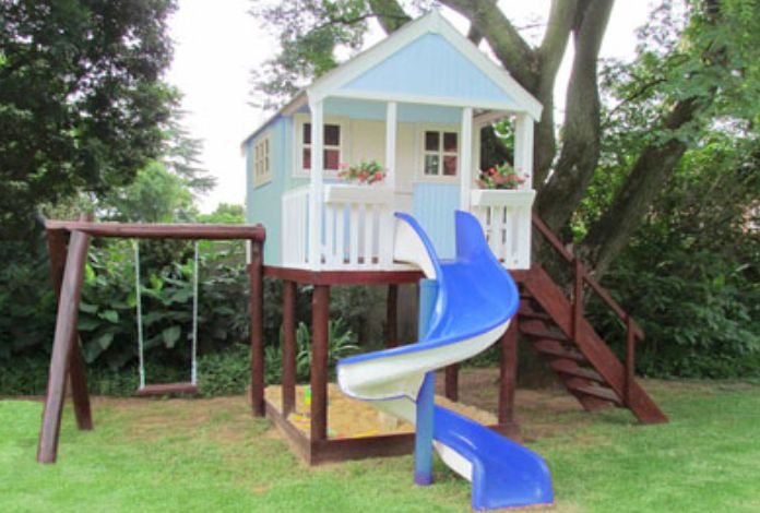 tree house with swing | Most Creative Treehouses With Swing And Slide : Tree House Plans With ...
