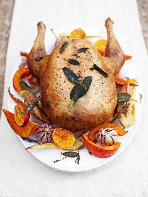 Roast Turkey with chestnut and sage stuffing and flavoured butter