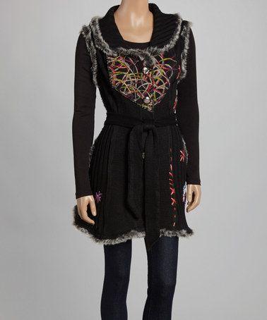 This Black Embroidered Wool-Blend Vest - Women is perfect! #zulilyfinds