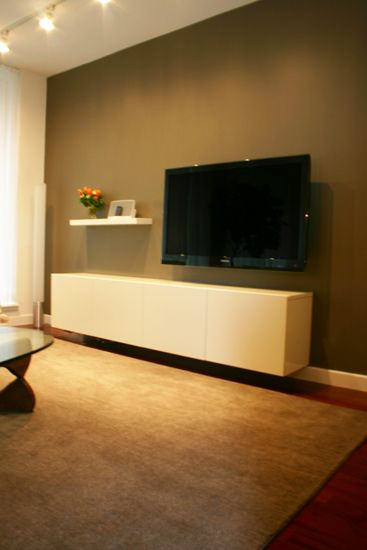 custom media unit (and interiors) by m | monroe design, built by hud-woodworks.com