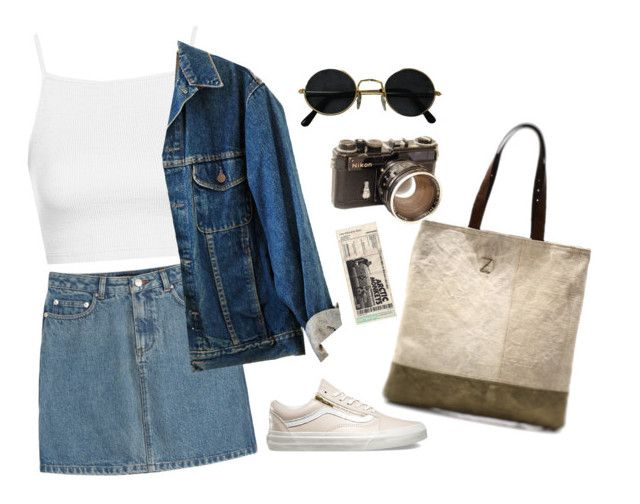 """""""Untitled #47"""" by nagy-bori on Polyvore featuring A.P.C., Topshop and Vans"""