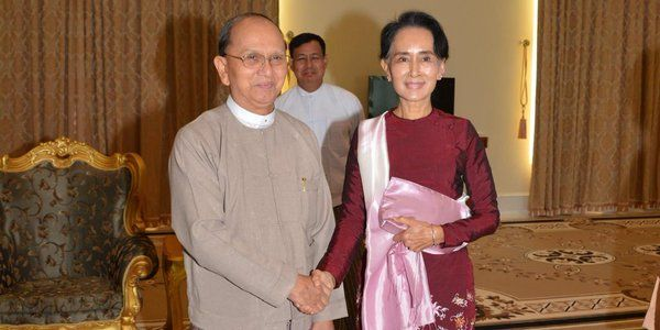 Thein Sein, Suu Kyi meet to discuss #Burma power transfer #Myanmar #BurmaVotes2015