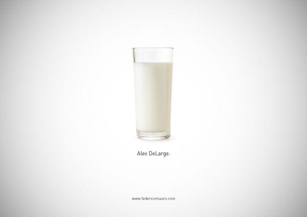 Famous Food & Drinks by Federico Mauro, via Behance