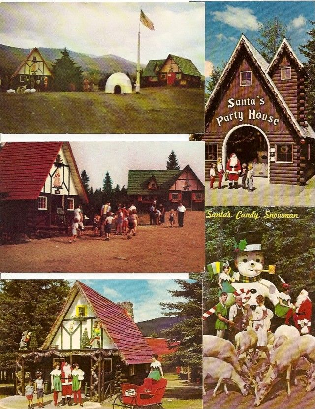 (5) New Hampshire ~ Santa's Village, Rte 2 JEFFERSON - Party House, Candy Snowman, Santa's Home