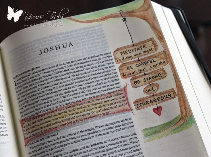 Diana Nguyen, Joshua, bible art journaling, illustrated faith