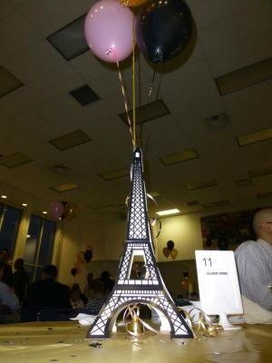 eiffel tower prom table centerpieces | Eiffel Tower Centerpiece, 49941