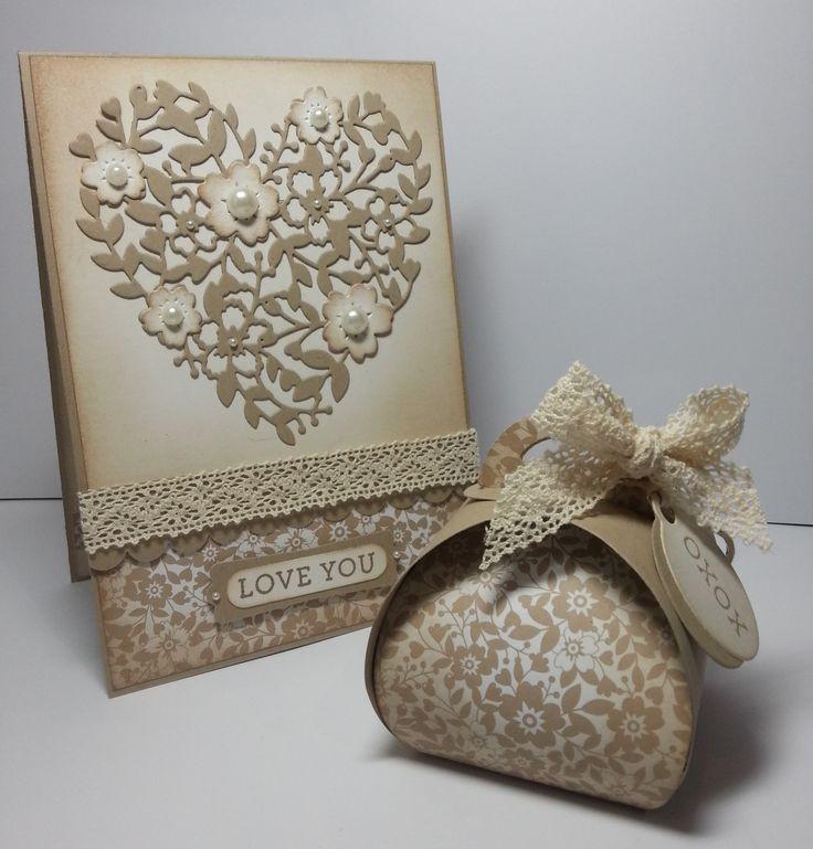 Stampin Up Blooming Love Stamp Set and Curvy Keepsake Box. https://www.facebook.com/Handmade-With-Love-In-NIreland-145237172246665/