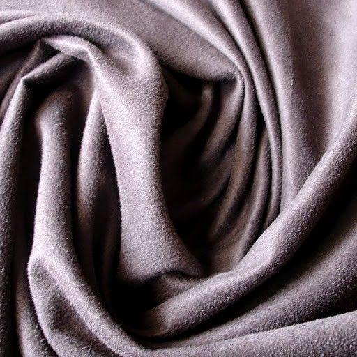 Grey Suede Fabric by FabricMart on Etsy, $8.40