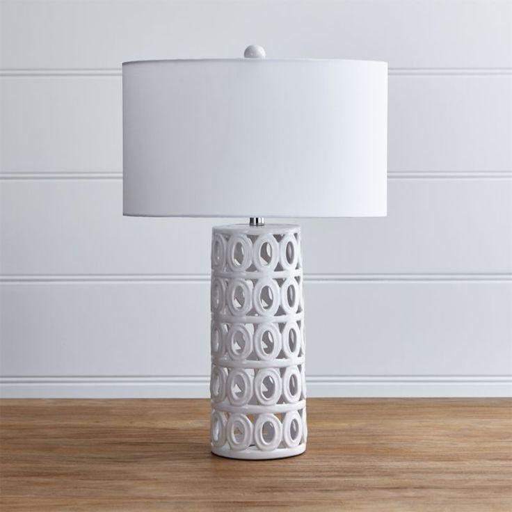 Cote White Ceramic Table Lamp Crate And Barrel